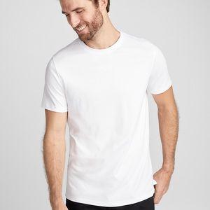 robert barakett white luxury t shirt size large